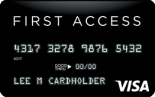 The Bank of Missouri: First Access Visa® Solid Black Credit Card